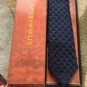 Stefano Ricci Silk Tie With Box Made In Italy